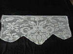 vintage handmade figural lace table runner dresser scarf