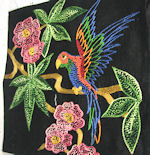 vintage hand embroidered pillow cover