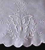 vintage antique figural lace whitework table topper