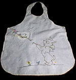 vintage handmade puppy apron