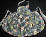 vintage birds and flowers print apron