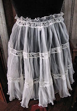 vintage sheer, white permanent pleated apron