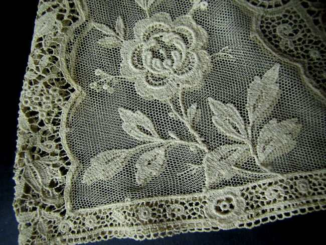 close up 2 vintage antique lace tea cozy cover