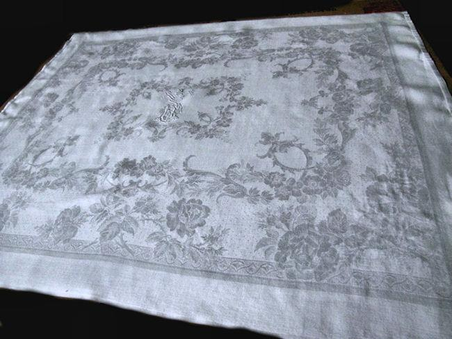 set vintage antique white linen lapkins