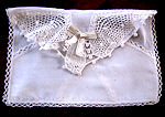 vintage lingerie bag hand embroidered butterflies
