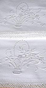 pair vintage pillowcases whitework