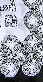 vintage handmade hairpin  lace doily