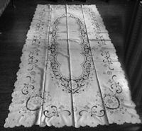 vintage antique banquet Madeira tablecloth