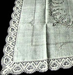 vintage antique tablecloth linen lace hand embroidery