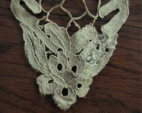 cuff mended area of lace