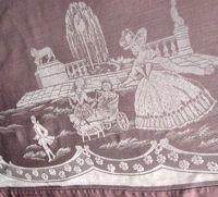 vintage figural damask tablecloth and napkins