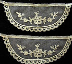 vintage antique pair cuffs Limerick lace'     style=