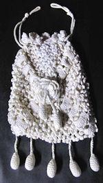vintage hanky bag handmade irsh lace