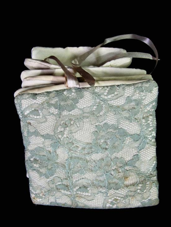 vintage antique lingerie folder bag