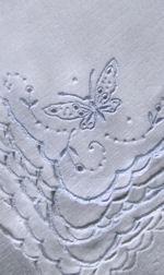 vintage white linen napkins figural lace