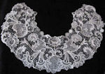 vintage antique victorian schiffli lace collar