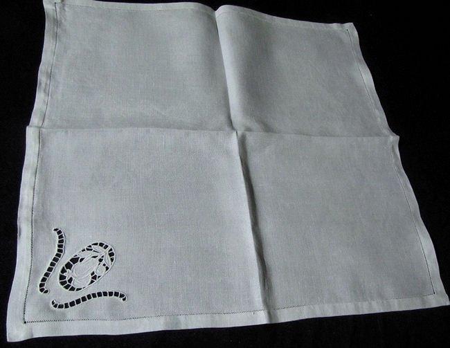 vintage white linen dinner napkins handmade lace