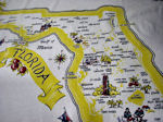 vintage state map tablecloth Florida