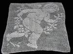 vintage handmade figural lace cherub doily