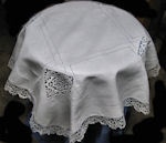 vintage antique table topper handmade reticella lace