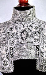 vintage victorian antique cutwork lace collar