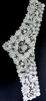 vintage victorian antique schiffli lace collar