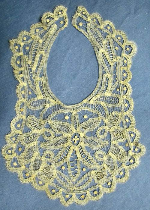 vintage Victorian antique collar handmade needle lace