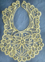 vintage antique victorian handmade needle lace collar