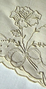 vintage linen napkins Madeira hand embroidery