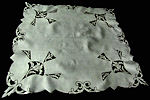 vintage antique art deco handmade cutwork lace table topper
