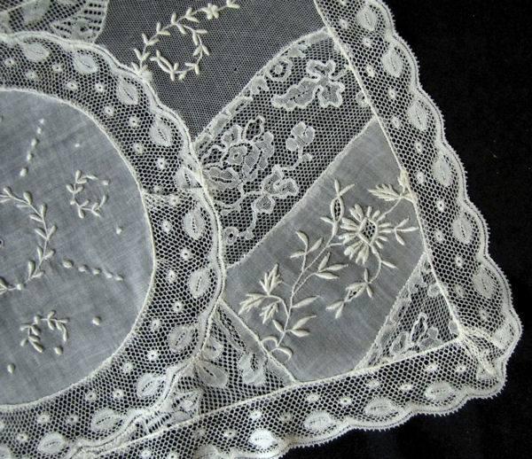 close-up vintage normandy lace placemat 4