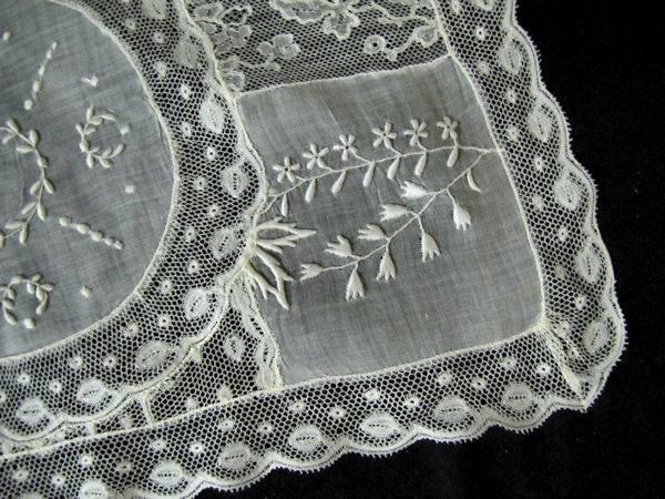 close-up vintage normandy lace placemat 5