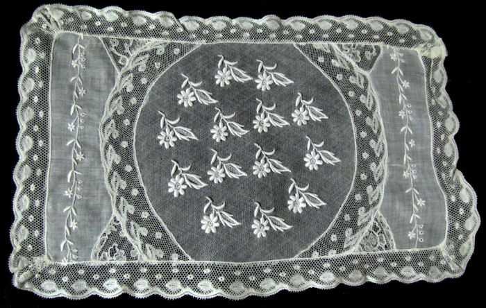 single vintage normandy lace placemat 7
