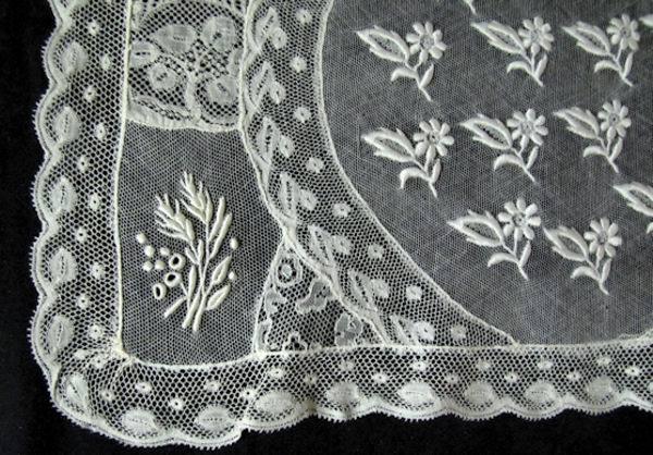 close-up vintage normandy lace placemat 8
