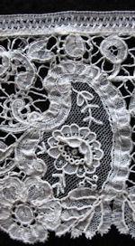 vintage brussels point de gaze lace trim handmade