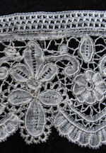 antique brussels lace trim handmade