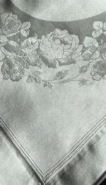 8 vintage dinner napkins damask roses