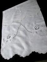 vintage linen towel monogrammed G