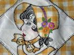 vintage handmade Southern Belle boudoir pillow cover