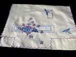 vintage antique embroidered lingerie folder bag