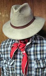 vintage antique wild west cowboy  hanky