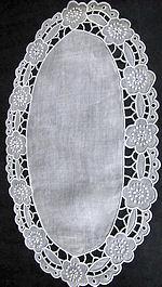 vintage cutwork lace doily