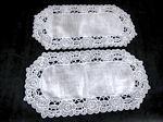 pair cutwork lace Doilies
