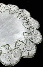 vintage antique society silk doily