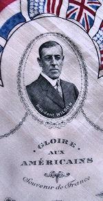 vintage antique political hanky President Wilson