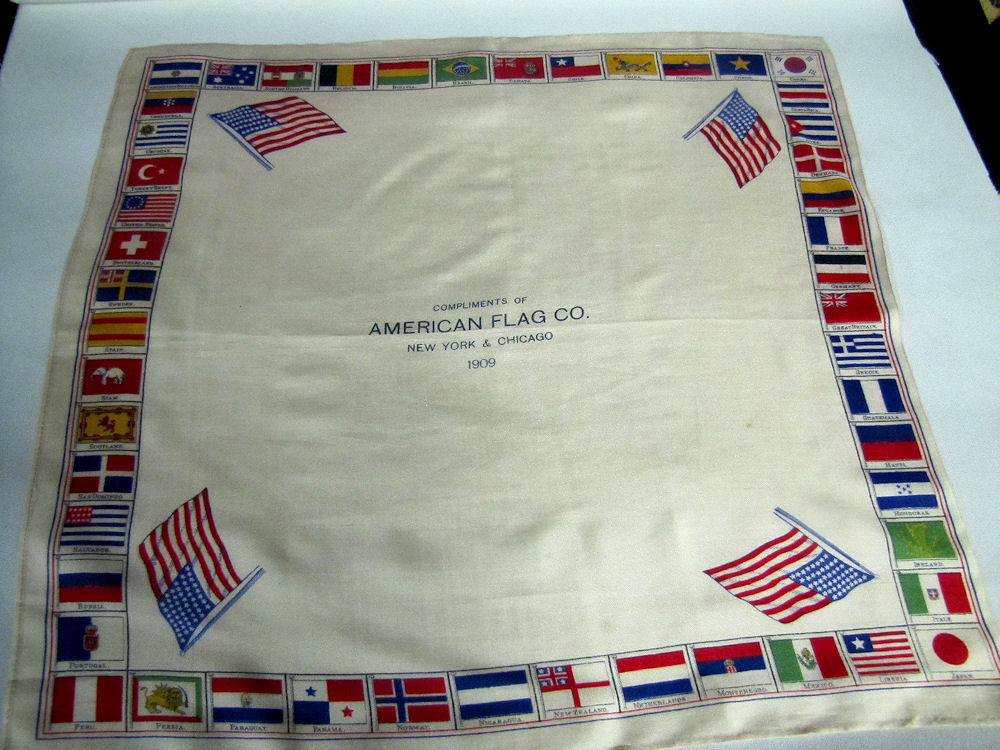 antique advertising hanky of the American Flag Co.