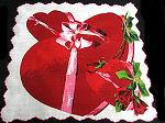 vintage valentine hanky