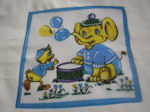 childs childrens hanky cartoon elephant