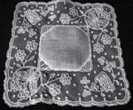 vintage wedding hankie carrickmacross lace