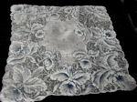 vintage sheer floral print hanky